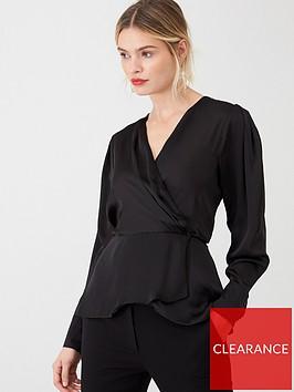v-by-very-satin-wrap-blouse-black