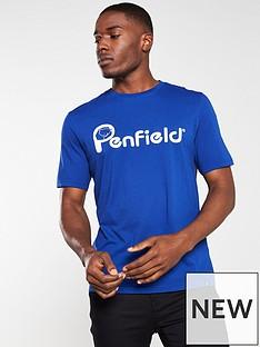 penfield-apremont-logo-t-shirt-blue