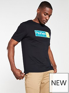 penfield-stearns-rubberised-logo-t-shirt-black