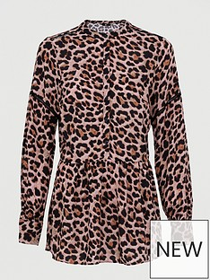 v-by-very-button-through-drop-hem-blouse-animal-print