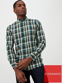 penfield-barrhead-brushed-check-shirt-green