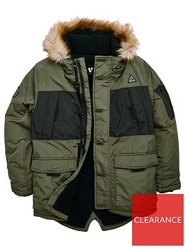 v-by-very-boys-colour-block-faux-fur-hooded-coat-khaki
