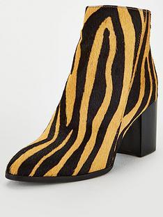 michelle-keegan-della-zebra-print-leather-ankle-boots-multi