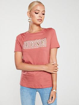 river-island-river-island-monogram-luxe-t-shirt-rust