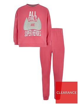 river-island-girls-superheroes-pyjama-set-pink