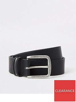 river-island-black-leather-metal-keeper-belt