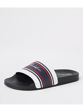 river-island-white-stripe-leon-prolific-branded-slider