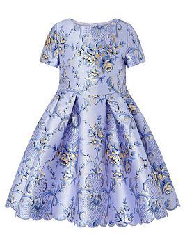 monsoon-girls-damask-dress-blue