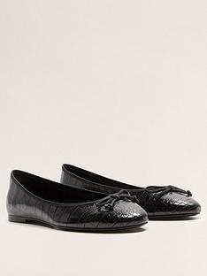 mango-croc-ballet-pumps-black