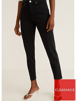 mango-mom-jeans-black