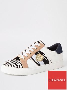 river-island-river-island-zebra-print-lace-up-trainers-white