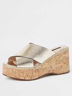river-island-wedge-mule-sandals-gold