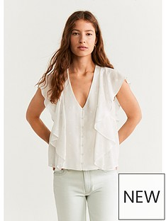 mango-floaty-blouse-off-white