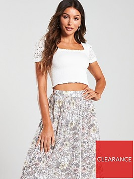 mango-ruched-cropped-blouse-white