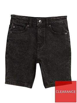 river-island-boys-wash-sid-skinny-shorts-black
