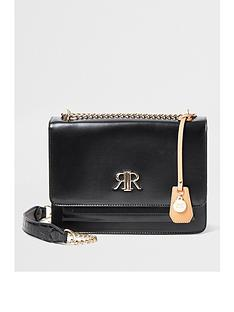 river-island-river-island-clean-foldover-shoulder-bag-black
