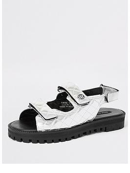 river-island-river-island-metallic-velcro-chunky-sandals-silver