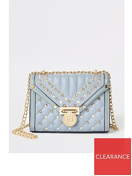 river-island-river-island-studded-quilted-cross-body-bag-light-blue