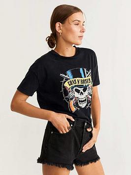 mango-guns-and-roses-t-shirt-black