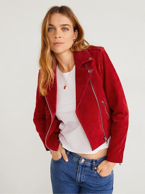 yet not vulgar first rate fashionable style Suede Biker Jacket