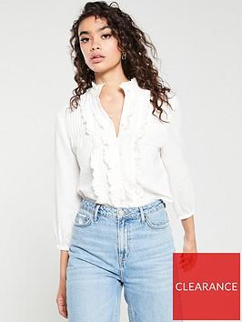 mango-frill-blouse-off-white