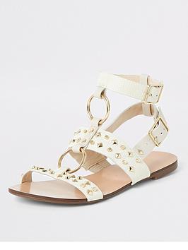 river-island-river-island-studded-gladiator-sandals-white
