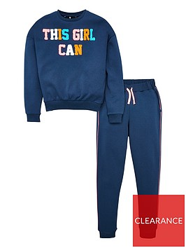 v-by-very-girls-2-piece-this-girl-can-textured-detail-sweat-top-and-joggers-outfit-navy