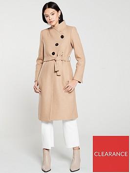 mango-button-front-coat-brown