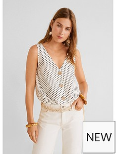 mango-sleeveless-polka-dot-blouse-white