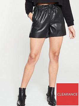 mango-paperbag-pu-shorts-black