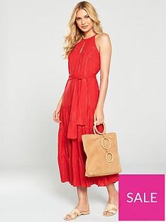 mango-tie-waist-tiered-dress-red