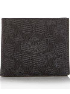 coach-mens-signature-c-compact-id-wallet-charcoalnbsp