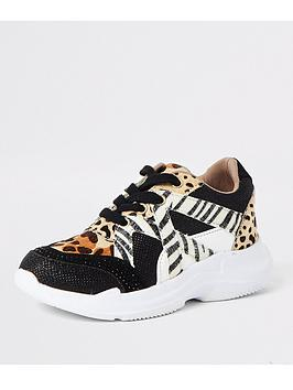 river-island-girls-animal-print-lace-up-trainers-brown