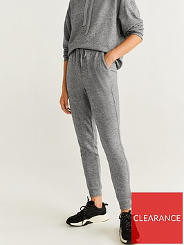 mango-soft-touch-flecked-jogger-grey