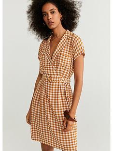 mango-check-belted-dress-tobacconbspbrown