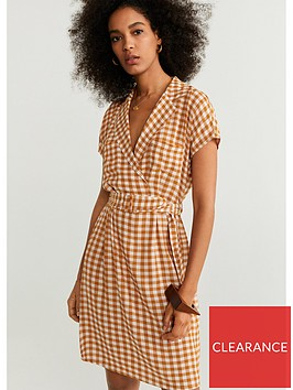 mango-check-belted-dress-tobacconbspbrown