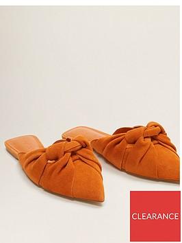 mango-suede-flat-mules-orange