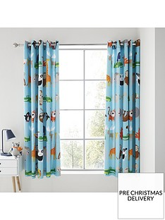 catherine-lansfield-animal-adventures-eyelet-curtains