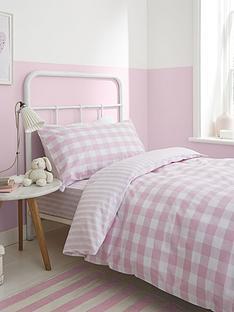 bianca-cottonsoft-bianca-pink-check-cotton-duvet-cover-set