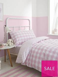 bianca-cottonsoft-bianca-pink-check-cotton-duvet-cover-set