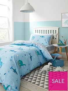 bianca-cottonsoft-bianca-shark-and-dinosaur-100-cotton-single-duvet-cover-set