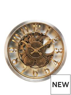 hometime-gold-case-wall-clock