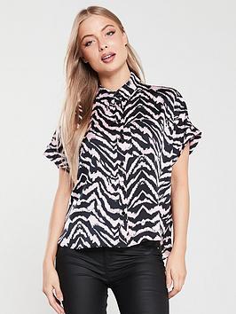 river-island-river-island-zebra-print-short-sleeve-shirt-pink
