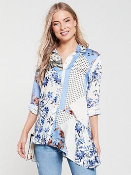 river-island-river-island-blue-scarf-print-asymetric-hem-shirt--blue