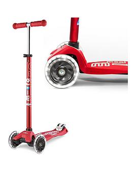 Micro Scooter Maxi Deluxe Led Red Scooter