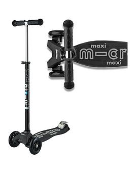 Micro Scooter Maxi Micro Deluxe - Black / Grey