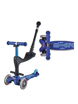 Micro Scooter 3 In 1 Mini Deluxe Plus - Blue