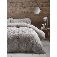 Cuddly Faux Fur Duvet Cover Set by Catherine Lansfield
