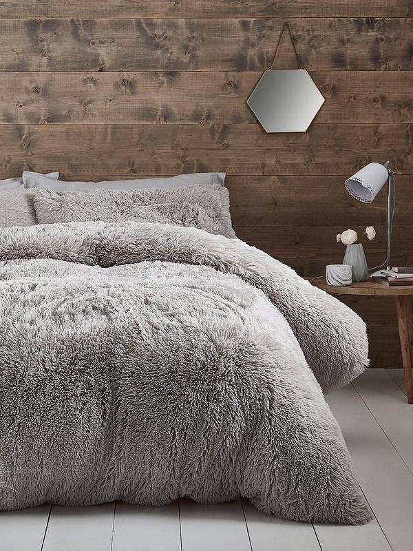 Bedspread 2 PCE Chocolate Mink Faux Fur SINGLE Coverlet Pillowcase