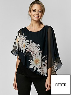 wallis-wallis-petite-spaced-floral-overlayer-top